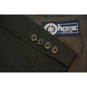 J. Press Prestige Charcoal Gray 100% Wool 3/2 suit